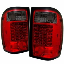 1993-2000 Ford Ranger LED Tail Lights (PAIR) - Red Smoke (Spyder Auto)