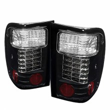 2001-2005 Ford Ranger LED Tail Lights (PAIR) - Black (Spyder Auto)