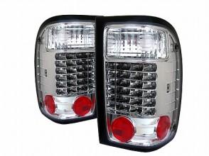 2001-2005 Ford Ranger LED Tail Lights (PAIR) - Chrome (Spyder Auto)