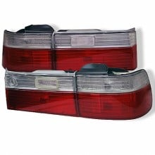 1990-1991 Honda Accord 4Dr Euro Style Tail Lights- Red Clear (Spyder Auto)