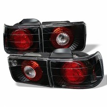 1992-1993 Honda Accord 4Dr Euro Style Tail Lights (PAIR) - Black (Spyder Auto)