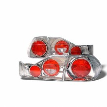 1998-2000 Honda Accord 4Dr Euro Style Tail Lights (PAIR) - Chrome (Spyder Auto)