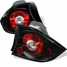 2001-2003 Honda Civic 2Dr Euro Style Tail Lights (PAIR) - Black (Spyder Auto)