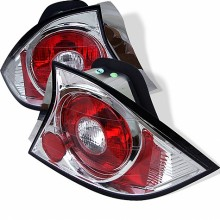 2001-2003 Honda Civic 2Dr Euro Style Tail Lights (PAIR) - Chrome (Spyder Auto)