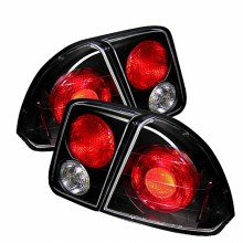 2001-2005 Honda Civic 4Dr Euro Style Tail Lights (PAIR) - Black (Spyder Auto)
