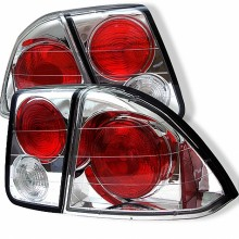 2001-2005 Honda Civic 4Dr Euro Style Tail Lights (PAIR) - Chrome (Spyder Auto)