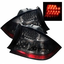 2004-2005 Honda Civic 2Dr LED Tail Lights (PAIR) - Smoke (Spyder Auto)