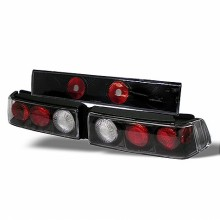 1988-1991 Honda Civic 3DR Euro Style Tail Lights (PAIR) - Black (Spyder Auto)