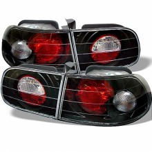 1992-1995 Honda Civic 3DR Euro Style Tail Lights (PAIR) - Black (Spyder Auto)