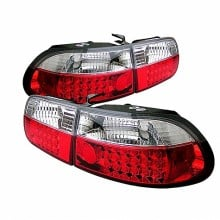 1992-1995 Honda Civic 3DR LED Tail Lights (PAIR) - Red Clear (Spyder Auto)