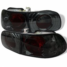 1992-1995 Honda Civic 3DR Euro Style Tail Lights (PAIR) - Smoke (Spyder Auto)