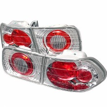 1996-2000 Honda Civic 2Dr Euro Style Tail Lights (PAIR) - Chrome (Spyder Auto)