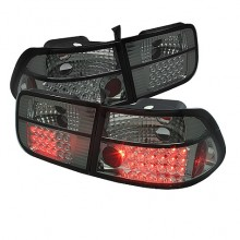 1996-2000 Honda Civic 2Dr LED Tail Lights (PAIR) - Smoke (Spyder Auto)