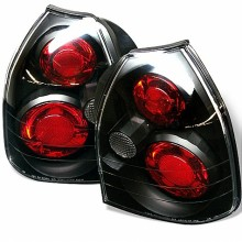1996-2000 Honda Civic 3DR Euro Style Tail Lights (PAIR) - Black (Spyder Auto)