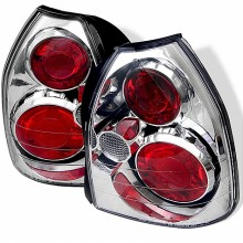1996-2000 Honda Civic 3DR Euro Style Tail Lights (PAIR) - Chrome (Spyder Auto)