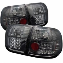 1996-1998 Honda Civic 4Dr LED Tail Lights (PAIR) - Smoke (Spyder Auto)