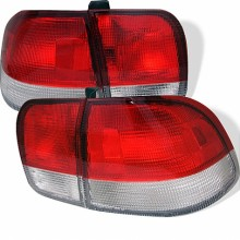 1996-1998 Honda Civic 4Dr Euro Style Tail Lights (PAIR) - Red Clear (Spyder Auto)
