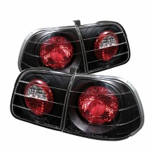 1999-2000 Honda Civic 4Dr Euro Style Tail Lights (PAIR) - Black (Spyder Auto)