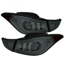 2011-2013 Hyundai Elantra Light Bar LED Tail Lights (PAIR) - Smoke (Spyder Auto)