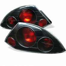 2000-2002 Mitsubishi Eclipse Euro Style Tail Lights (PAIR) - Black (Spyder Auto)