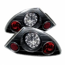 2000-2002 Mitsubishi Eclipse LED Tail Lights (PAIR) - Black (Spyder Auto)