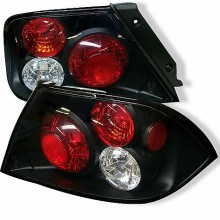 2002-2003 Mitsubishi Lancer (Not Fit: Evolution) Euro Style Tail Lights (PAIR) - Black (Spyder Auto)