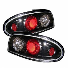 1993-1997 Nissan Altima Euro Style Tail Lights (PAIR) - Black (Spyder Auto)
