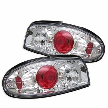 1993-1997 Nissan Altima Euro Style Tail Lights (PAIR) - Chrome (Spyder Auto)