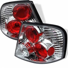 1998-2001 Nissan Altima Euro Style Tail Lights (PAIR) - Chrome (Spyder Auto)