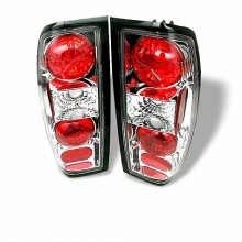 1998-2000 Nissan Frontier Euro Style Tail Lights (PAIR) - Chrome (Spyder Auto)