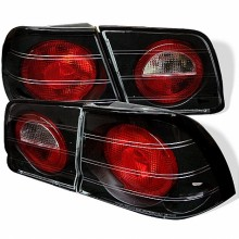 1995-1996 Nissan Maxima Euro Style Tail Lights (PAIR) - Black (Spyder Auto)