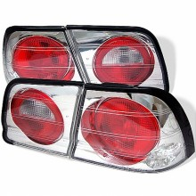1995-1996 Nissan Maxima Euro Style Tail Lights (PAIR) - Chrome (Spyder Auto)