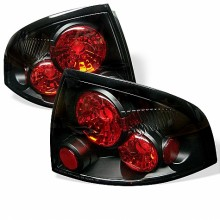 2000-2003 Nissan Sentra Euro Style Tail Lights (PAIR) - Black (Spyder Auto)