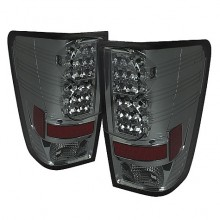2004-2012 Nissan Titan LED Tail Lights (PAIR) - Smoke (Spyder Auto)