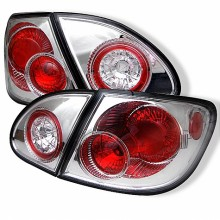 2003-2008 Toyota Corolla Euro Style Tail Lights (PAIR) - Chrome (Spyder Auto)