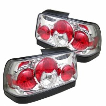 1993-1997 Toyota Corolla Euro Style Tail Lights (PAIR) - Chrome (Spyder Auto)