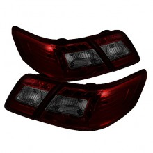 2007-2009 Toyota Camry LED Tail Lights (PAIR) - Red Smoke (Spyder Auto)