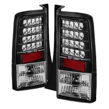 2003-2007 Scion XB Version 2 LED Tail Lights (PAIR) - Black (Spyder Auto)