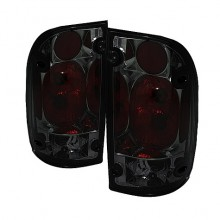 2001-2004 Toyota Tacoma Euro Style Tail Lights (PAIR) - Smoke (Spyder Auto)