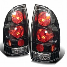 2005-2012 Toyota Tacoma Euro Style Tail Lights (PAIR) - Black (Spyder Auto)