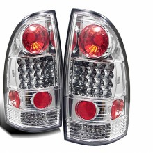 2005-2012 Toyota Tacoma LED Tail Lights (PAIR) - Chrome (Spyder Auto)
