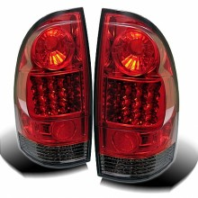 2005-2012 Toyota Tacoma LED Tail Lights (PAIR) - Red Smoke (Spyder Auto)