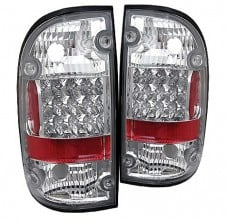 1995-2000 Toyota Tacoma LED Tail Lights (PAIR) - Chrome (Spyder Auto)