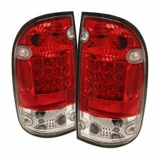 1995-2000 Toyota Tacoma LED Tail Lights (PAIR) - Red Clear (Spyder Auto)