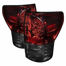 2007-2012 Toyota Tundra LED Tail Lights (PAIR) - Red Smoke (Spyder Auto)