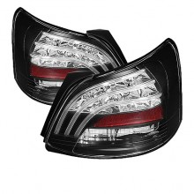 2007-2009 Toyota Yaris 4Dr LED Tail Lights (PAIR) - Black (Spyder Auto)