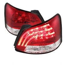 2007-2009 Toyota Yaris 4Dr LED Tail Lights (PAIR) - Red Clear (Spyder Auto)