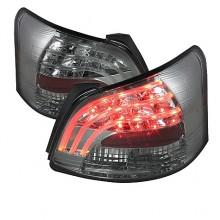 2007-2009 Toyota Yaris 4Dr LED Tail Lights (PAIR) - Smoke (Spyder Auto)