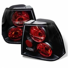1999-2004 Volkswagen Jetta Euro Style Tail Lights (PAIR) - Black (Spyder Auto)