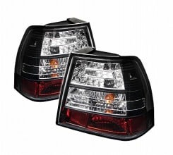 1999-2004 Volkswagen Jetta LED Tail Lights (PAIR) - Black (Spyder Auto)